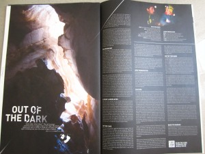 Out of the Dark article, Read Macadam, Fall/Winter 2014 Adidas Outdoor Magazine